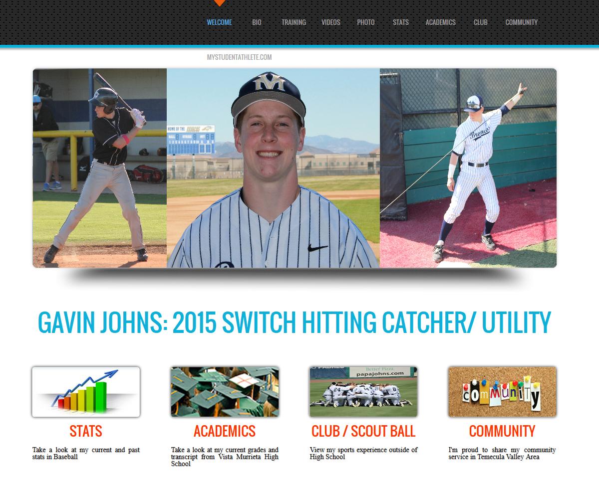 Gavin Johns Baseball