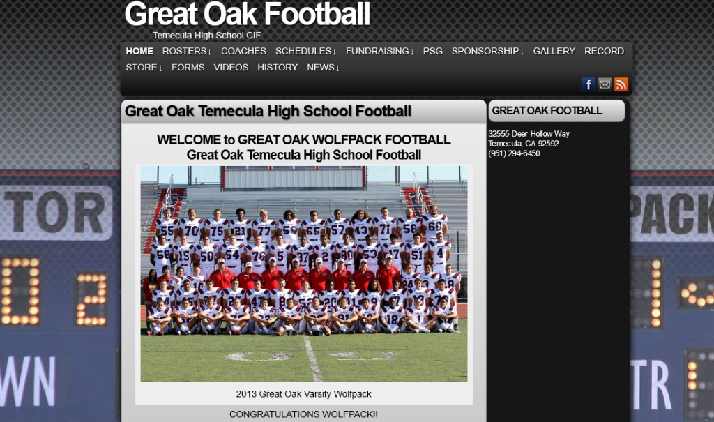 GreatOakWolfPackFootball.com