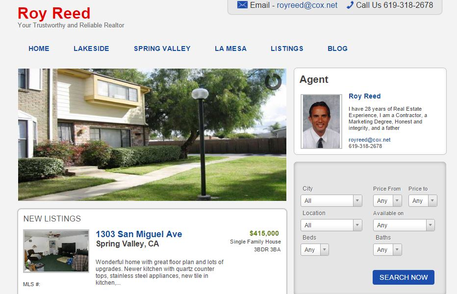 Roy Reed Realtor Website
