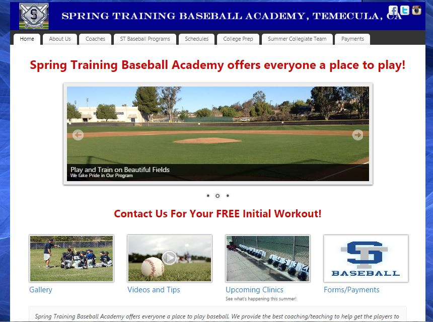 Spring Training Baseball Academy